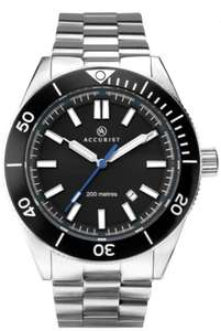 Accurist Signature 200m Divers Watch, Solid End Links, Screw Down Crown, Sapphire Glass, £62.99 With Code @ GB Watch Shop