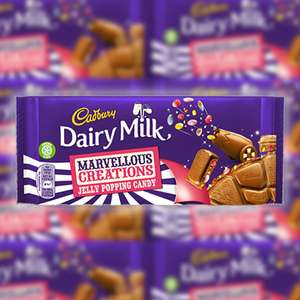 Cadbury Dairy Milk Marvellous Creations 180g Chocolate Bars - 19 bars - £15 Delivered @ Yankee Bundles