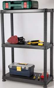 3 Tier Plastic Shelving Unit now £10 + £3.95 delivery @ Argos