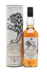 Lagavulin 9yo Game of Thrones single malt scotch whisky (46% ABV, 70cl) - £40.94 + £3.96 delivery @ Malts