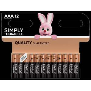 2 x 12 pks Duracell AAA or AA Batteries £8 @ BM Bargains bought in Swinton
