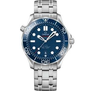 Omega Seamaster Diver 300M Watch 42mm - in Blue with Metal Bracelet £3442 at Watches World