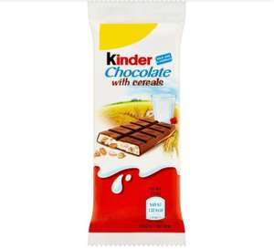 Kinder Chocolate Cereal Bar 23.5g - 29p each or 6 for £1 Farmfoods sutton