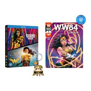 Wonder Woman & 1984 Blu-ray Double Pack + Free digital comic and Funko keyring - £17.99 for new customers only @ Warner Bros Shop