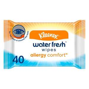 Kleenex allergy comfort water fresh wipes X40 - £1 (Clubcard Price) (Minimum Spend + Delivery Charges Apply) @ Tesco