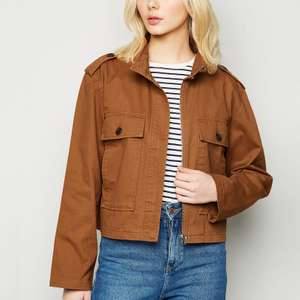 JDY Tan Lightweight Jacket now £8.10 + £2.99 delivery @ New Look