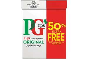 240s PG Tips Tea Bags 4 for £12 @ Farmfoods