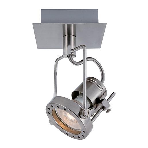 Wickes Studio LED Single Spotlight for £10 or Wickes Studio LED Brushed Chrome 4 Bar Spotlight for £28 click & collect @ Wickes