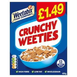 400G weetabix crunchy weeties 69p at Farmfoods Sutton