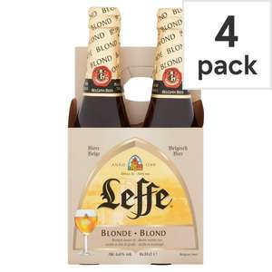 Leffe Blond 4x330ml - £4.50 Clubcard price (Minimum Spend + Delivery Charges Apply) @ Tesco