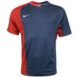 Nike Performance Mens Short Sleeve Dri Fit Rugby Top in Navy/Red (Sizes L & XL only) £6.39 Delivered @ elitesuperstores / eBay
