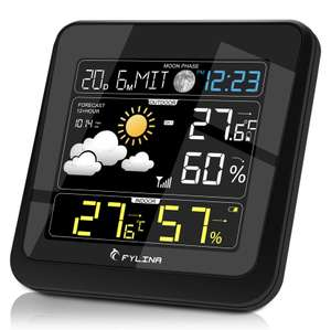 Fylina 13 in 1 Multifunction Weather Station with Outdoor Sensor. £9.99 (+£4.49 non-prime) - Sold by dafeierwangluo and Fulfilled by Amazon.