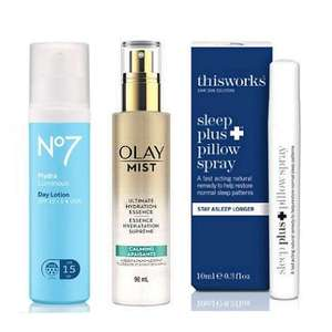 £5 Friday Offers - Olay Mist Face Spray, No7 HydraLuminous Overnight Recovery Gel, HydraLuminous Day Lotion & more (£3.50 delivery) @ Boots
