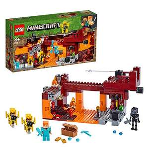 LEGO 21154 Minecraft The Blaze Bridge Building Set with Alex Minifigure, Wither Skeleton Figure £29.99 delivered @ Amazon