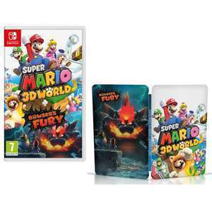 Super Mario 3D World + Bowser's Fury Inc Steelbook (Switch) £39.94 Delivered using code @ Boss Deals via eBay