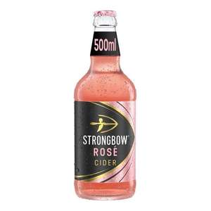 Strongbow Rose cider 500ml for £1 (Minimum Spend + Delivery Charges Apply) @ Morrisons