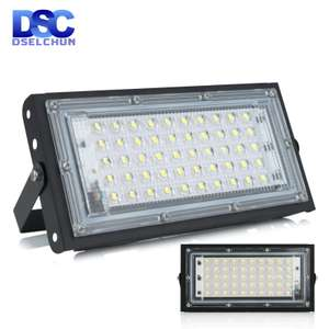 DSELCHUN 50W LED Flood Light AC 240V with IP65 Waterproof for £3.48 delivered @ AliExpress / DSELCHUN Official Store