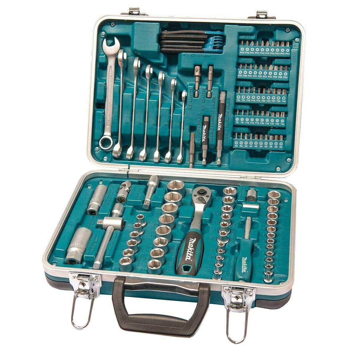 Makita P-90635 118 Piece General Maintenance Spanner Socket Screwdriver Bit Set £67.14 delivered with code) @ buyaparcel-store ebay