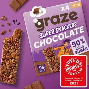 Graze Chocolate Super Snackers 50p via Graze Voucher @ Sainsbury's
