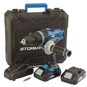 Draper 89523 Stormforce 20V Combi Drill with 2x2.0Ah batteries & charger £73.67 @ Amazon