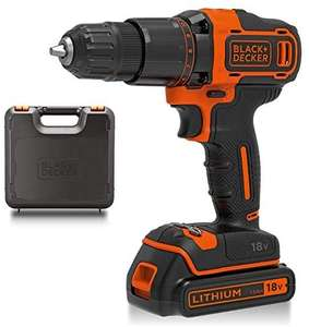 BLACK+DECKER 18 V Cordless 2-Gear Combi Hammer Drill Power Tool with Kitbox, 1.5 Ah Lithium-Ion, BCD700S1K-GB - £48 @ Amazon