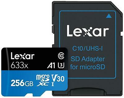 256GB - Lexar High-Performance A1 633x microSDXC UHS-I U3 Class 10 V30 Card 95/45MB/s R/W - £22.63 Delivered @ cherrytree-digital/eBay
