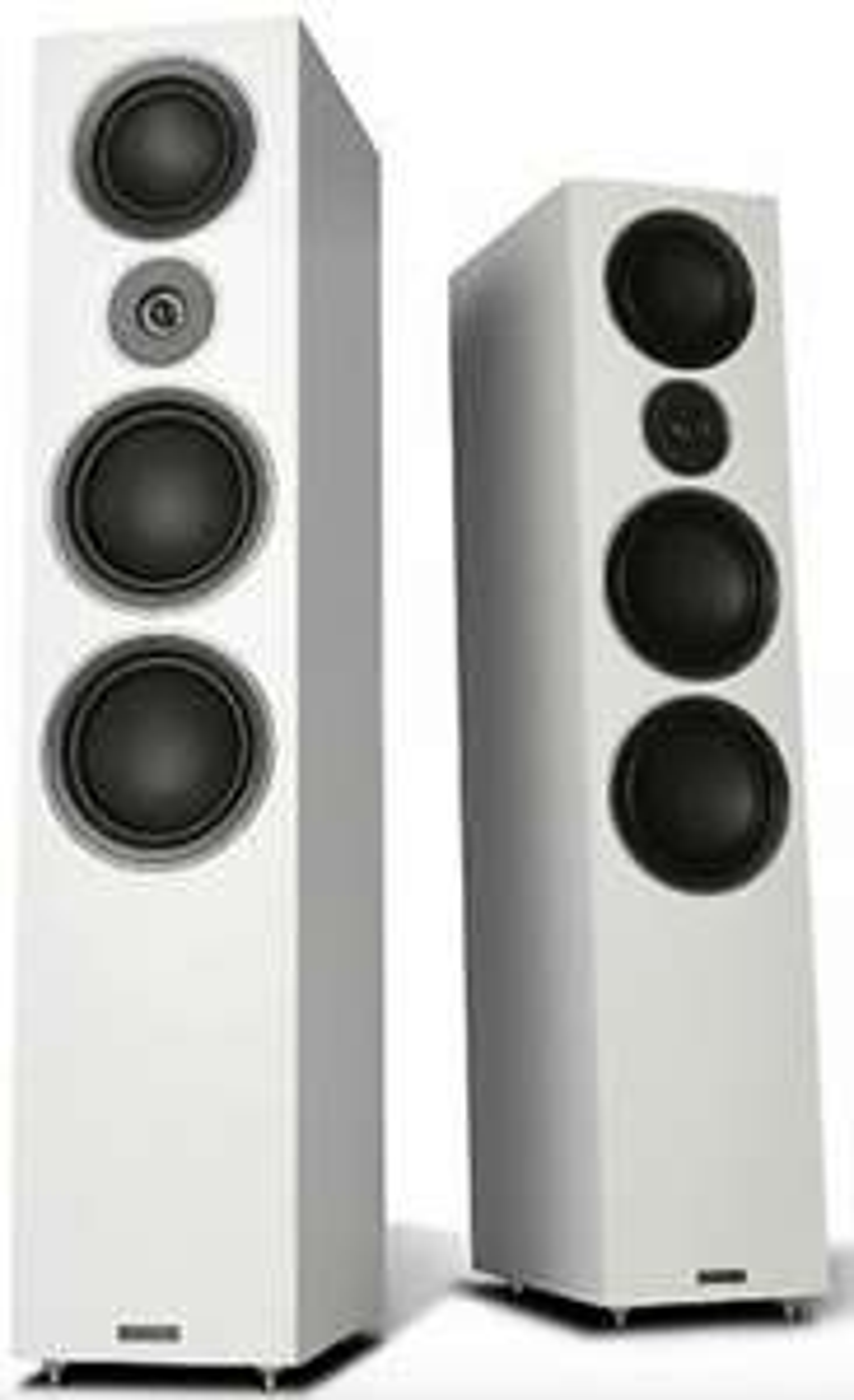 Mission LX-5 Floorstand Speaker - White Sandex (pair) / MH-028490-00B - £624.97 with code @ eBay / teashop