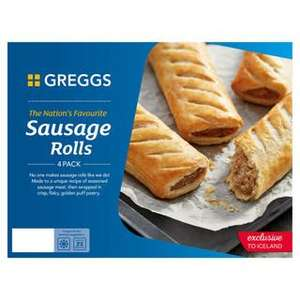 Free Treat Worth £2 With Code (Example - Greggs 4 Sausage Rolls 427g / Minimum Spend Applies Free Delivery On £35 Spend) @ Iceland