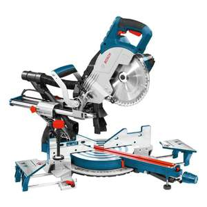 """Bosch GCM8SJL 8"""" 240v Sliding Mitre Saw With Laser Cutting Guide - Includes Blade - £258.39 with code @ eBay / Bosch"""