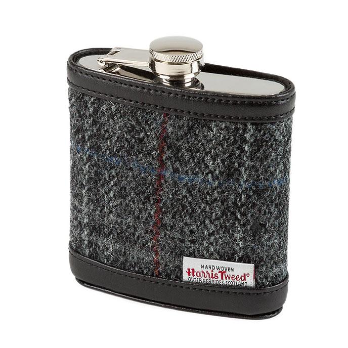 Totes Mens Harris Tweed Hip Flask Charcoal Tweed £11.95 Delivered @ Totes