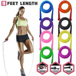 Skipping Jumping Speed Rope Boxing Exercise Weight Loss Adult Fitness Adjustable (9 Colours) £1.99 Delivered @ technogym_2029 / eBay
