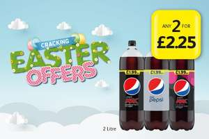 4 Litres of Pepsi Max/Diet/Cherry for £2.25   Frozen Meal Deal £5 @ Londis