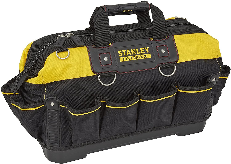 STANLEY FATMAX Technician Tool Bag, Heavy Duty 600 Denier and Leather, Multifunctional Tool Storage Organiser, 18 Inch - £21 @ Amazon