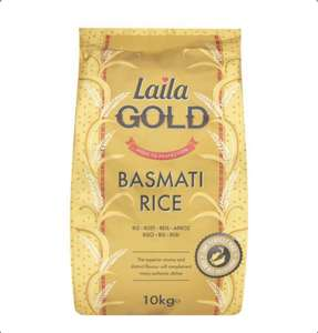 Laila Gold Basmati Rice 10Kg - £11 (+ Delivery Charge / Minimum Spend Applies) @ Tesco