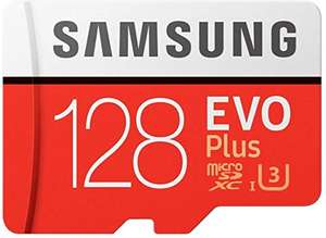 Samsung Evo plus 128GB Micro SD SDXC Class 10 £14.45 Prime / £18.94 Non Prime @ Sold by Memory-Direct Fulfilled by Amazon