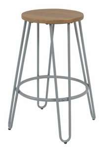 Argos Home Klark Hairpin Wooden Bar Stool - Grey - £21.99 / £25.94 Delivered @ Argos. Manufacturer's 4 year guarantee