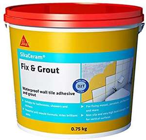 SikaCeram wall tile adhesive and grout 750g - £1.96 (+£4.49 Non-Prime) @ Amazon