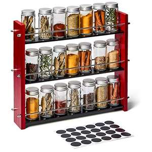 EZOWare 3-Tier Wood Spice Rack with 21 Jars and Labels £14.54 prime / £19.03 non prime Sold by BlueMall_GBUK and Fulfilled by Amazon