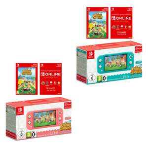 Nintendo Switch Lite Coral / Turquoise + Animal Crossing + 3 Months Nintendo Switch Online - £190.39 with code delivered @ Shopto / ebay