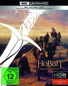 The Hobbit Trilogy [Theatrical/Extended Edition] [4K UHD] [Region Free] (German Release) £44.15 Sold by Amazon EU (UK Mainland) @ Amazon