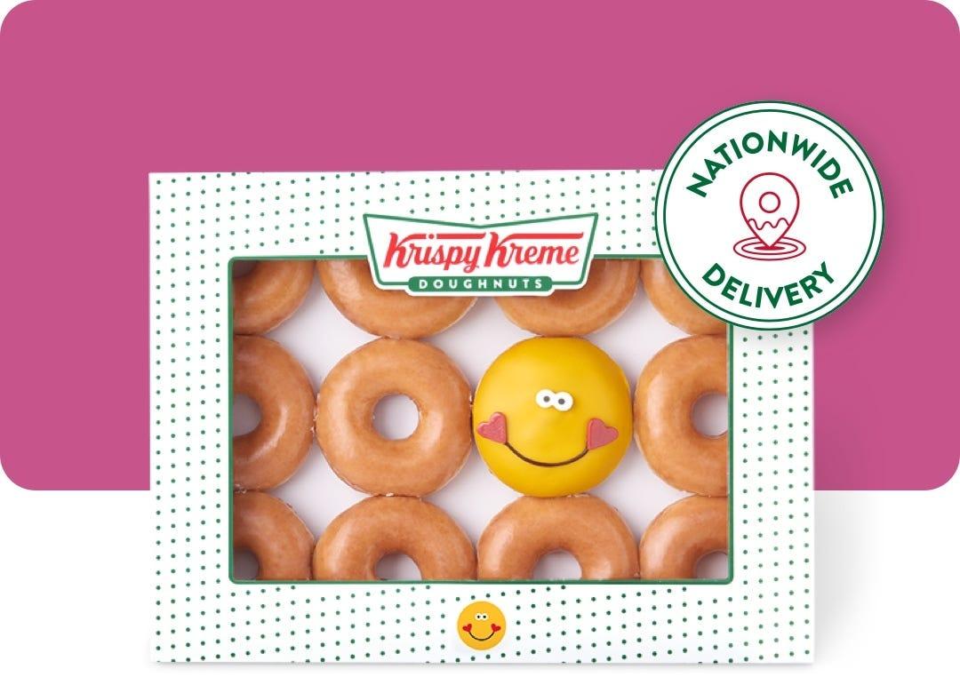 Krispy Kreme Buy any dozen £9.95 and get an Original Glazed dozen for £1 with voucher from the 19th in Krispy Kreme store