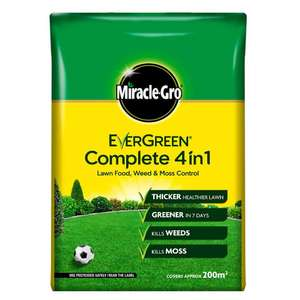 Miracle-Gro Evergreen Complete 4 in 1 7kg - 200m2 £10 (+ £4.49 non Prime) at Amazon