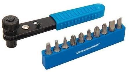 Silverline 404706 11pce Offset Ratchet Screwdriver Set 11 Piece, Black/Blue - £2.69 (+£4.49 non prime) @ Amazon