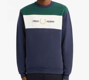 Fred Perry Embroidered Panel Sweatshirt - £27 at Fred Perry Shop