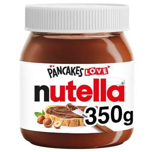 Nutella Chocolate Spread 350g now £2 (Minimum Basket / Delivery Charge Applies) @ Sainsbury's