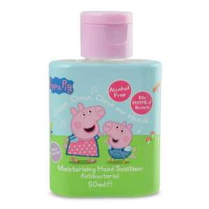 Peppa Pig Hand Sanitiser 50ml - Alcohol free & melon fragrance 79p + £1.50 p&p (free over £15 / free click & collect) @ Superdrug