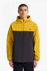 Fred Perry Colour Block Panelled Jacket in yellow and black for £48 delivered @ Fred Perry