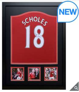 Paul Scholes Personalised Signed Framed Manchester United Football Shirt £199.99 @ Costco
