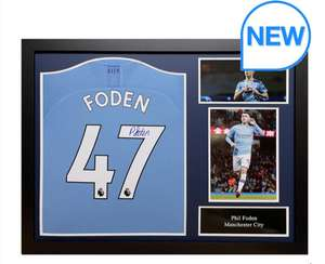 Phil Foden Signed Framed Manchester City Football Shirt £249.99 @ Costco
