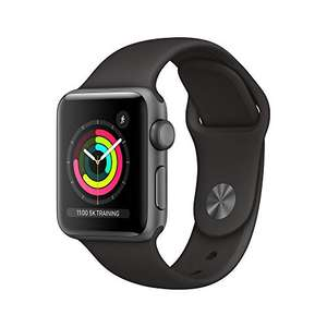 Apple Watch Series 3 GPS 38mm - Space Grey Aluminum Case with Black Sport Band £167.45 / Space Grey 42mm reduced to £194.65 @ Amazon